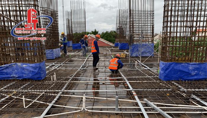 Thi công cáp dự ứng lực dự án Chung cư Eden Riverside Thuận An
